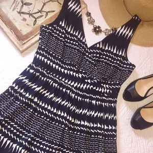 NWT J. Crew black and white sleeveless dress